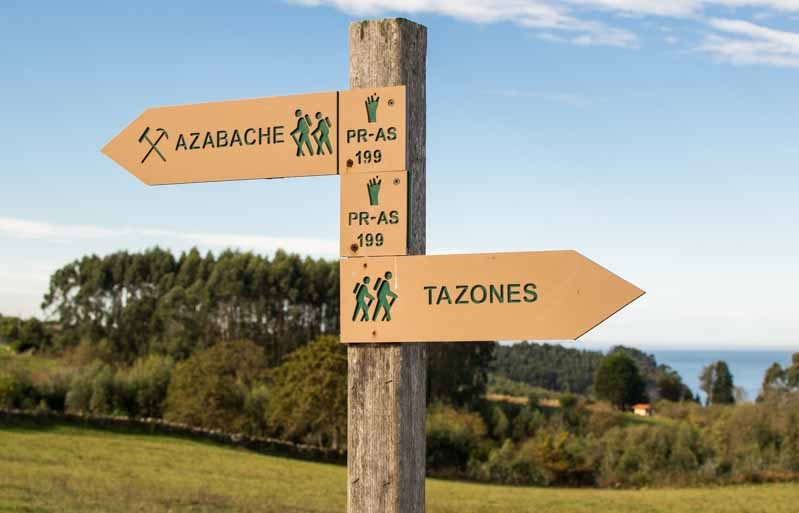 Señalizacion ruta del azabache Villaviciosa