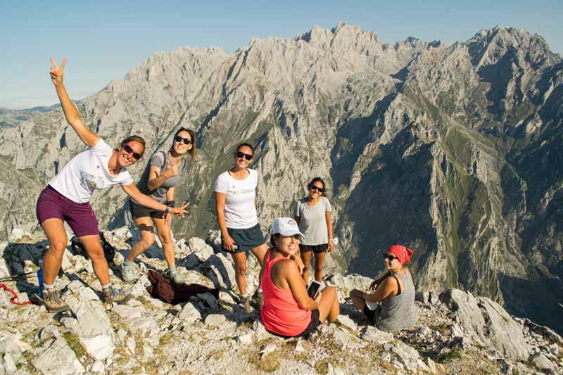 Vistas desde Jultayu al macizo Central de Picos de Europa