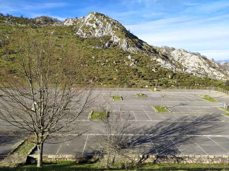 parking buferrera en Lagos de Covadonga