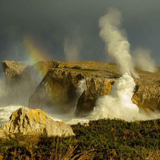 Bufones de Pria de 20 metros de altura en Asturias