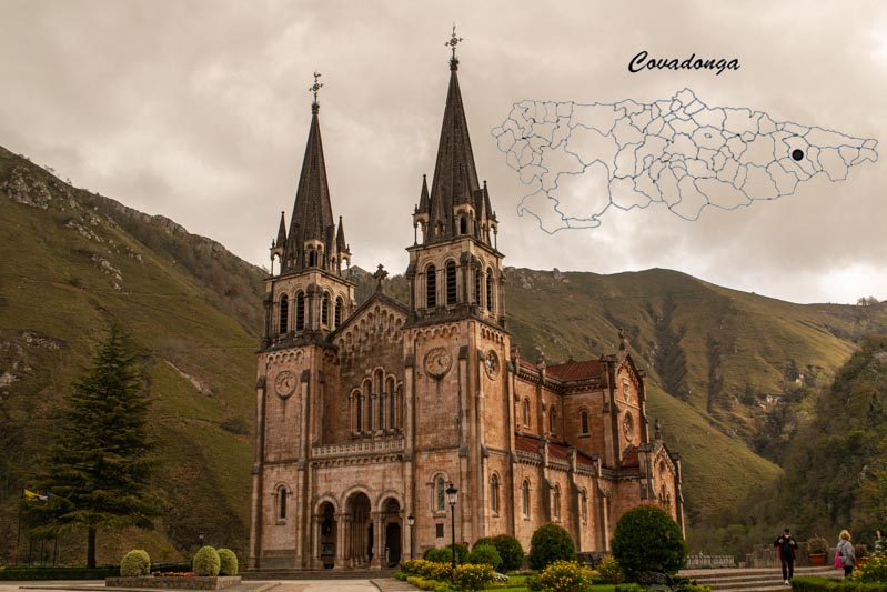 Donde está Covadonga en el mapa de Asturias
