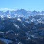 Vistas a Picos de Europa desde la Cruz de Priena en Covadonga