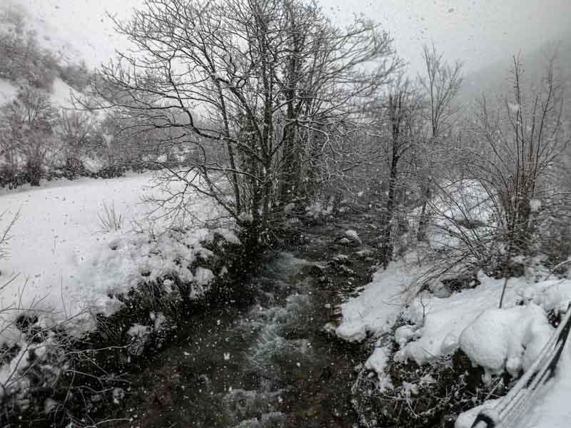 Nevada en Asturias concejo de Aller