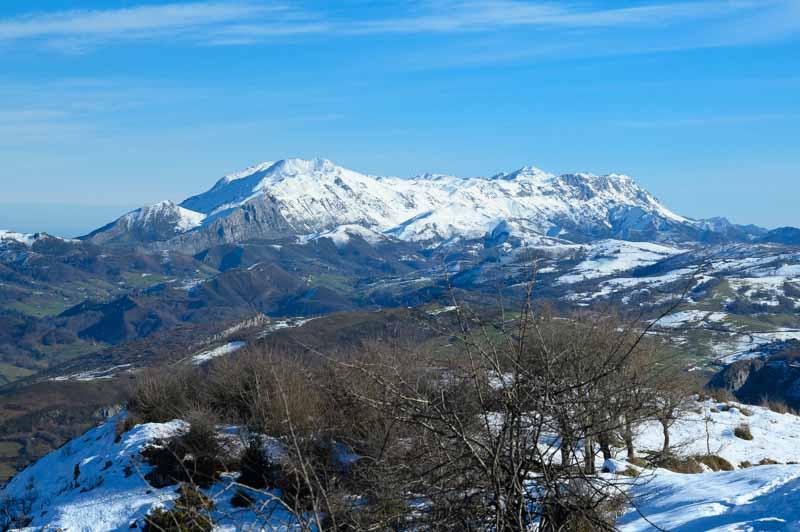 Sierra del Cuera vista desde Cruz de Priena