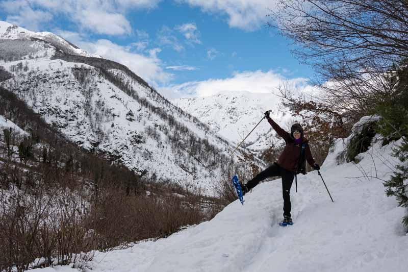 ruta raquetas de nieve Asturias
