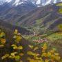 Vistas en la ruta a Pinganón de Cadeiro concejo de Aller