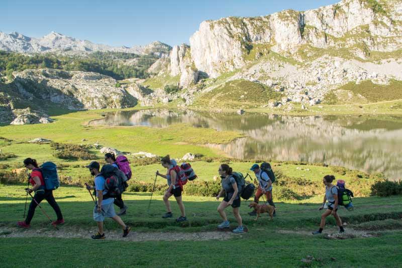 Subir al Jultayu desde Lagos de Covadonga