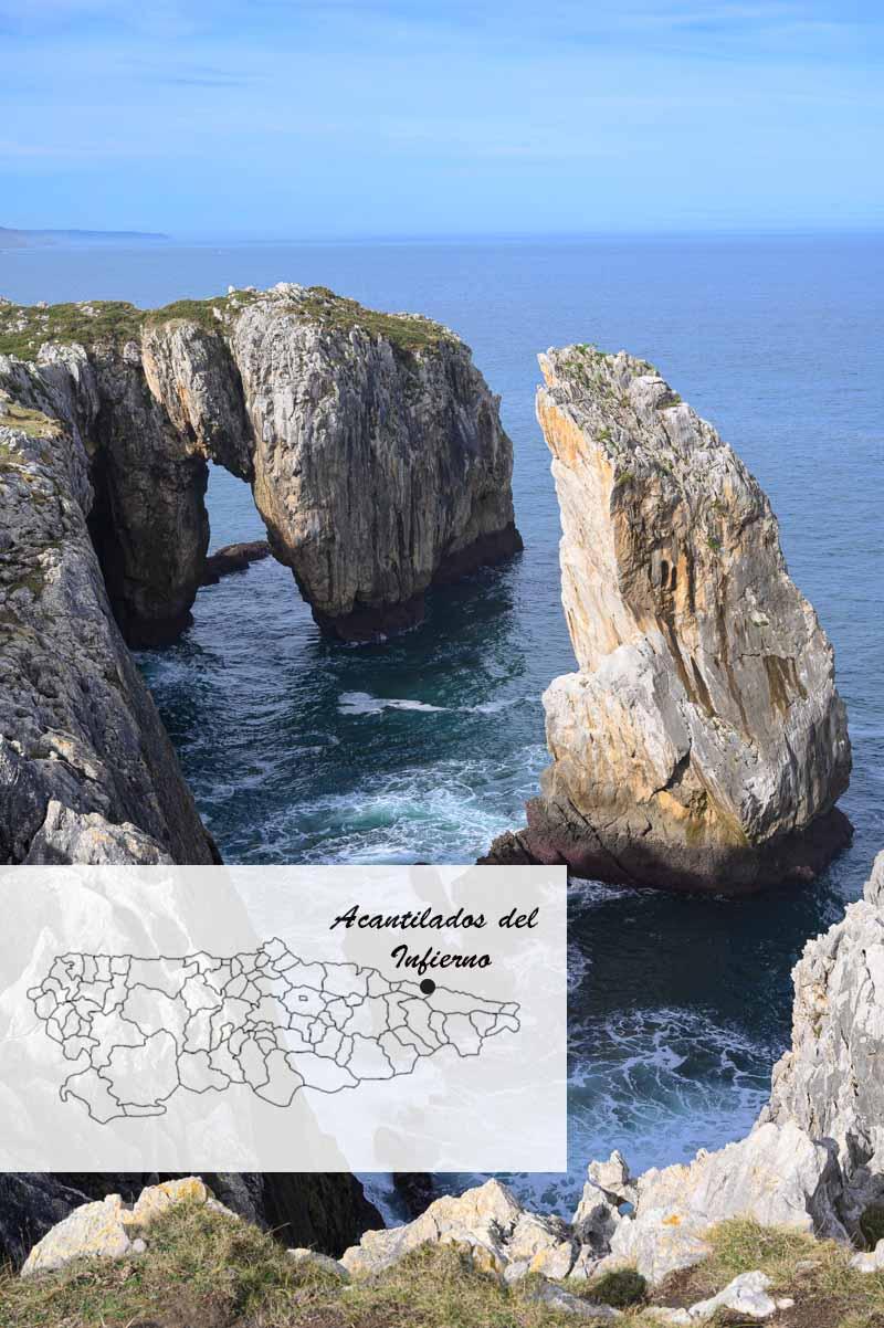 Dónde están los acantilados del Infierno en el mapa de Asturias