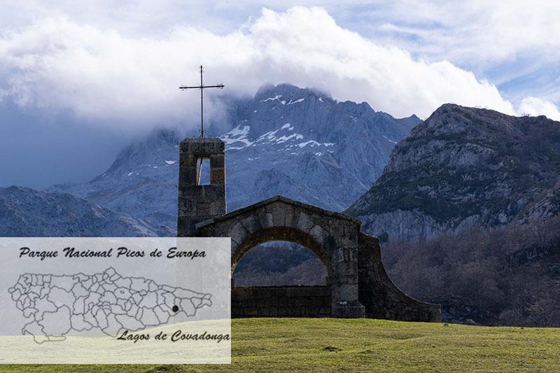Lagos de Covadonga en el mapa de Asturias