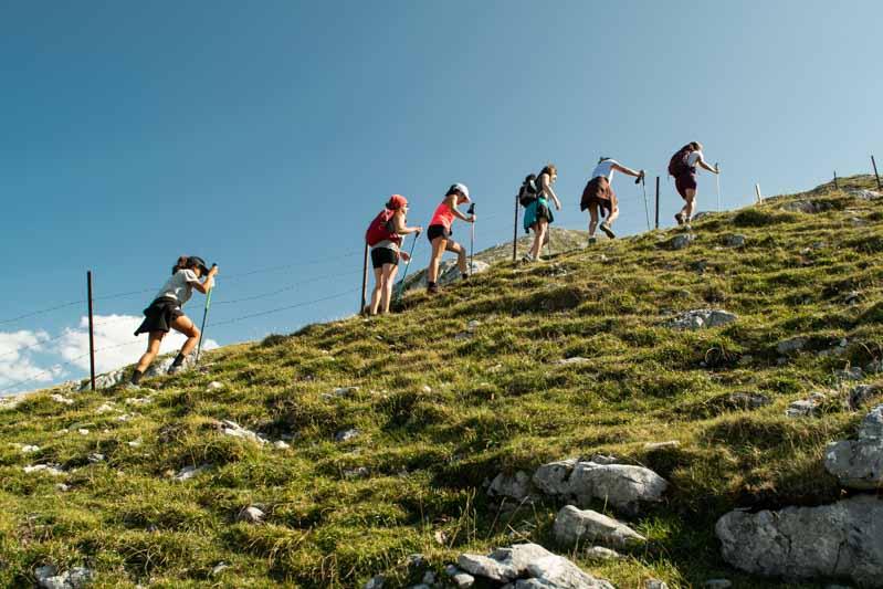 Subiendo al Jultayu senderismo Picos de Europa