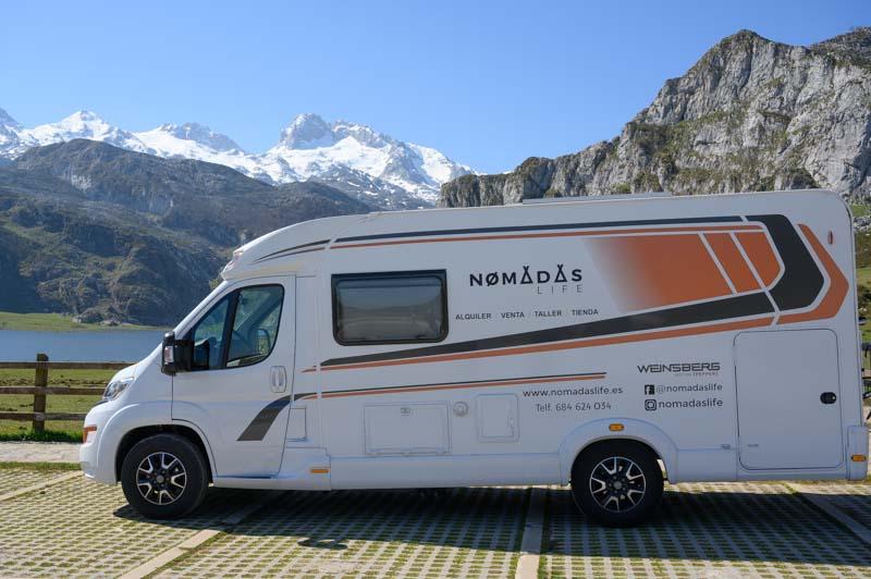 Subir Lagos de Covadonga en Autocaravana