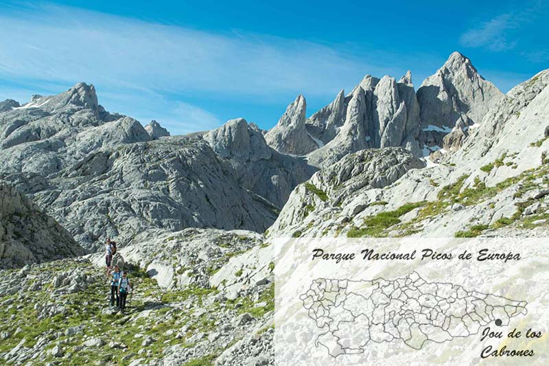 Jou de los Cabrones en el mapa de Asturias