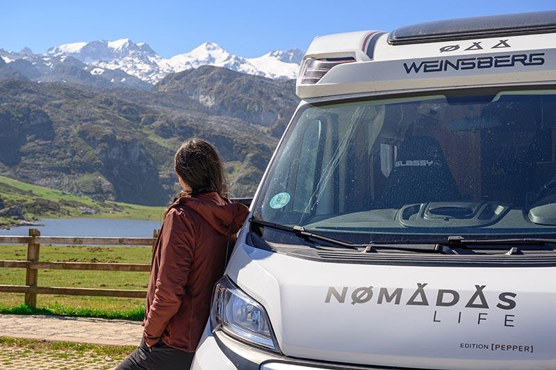 Es posible subir a los Lagos de Covadonga en Autocaravana