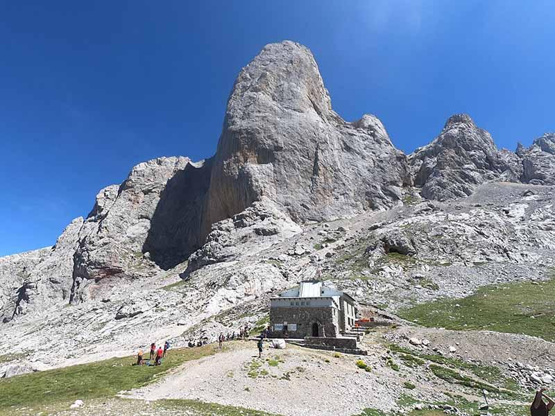 Refugio Vega de Urriellu en Picos de Europa