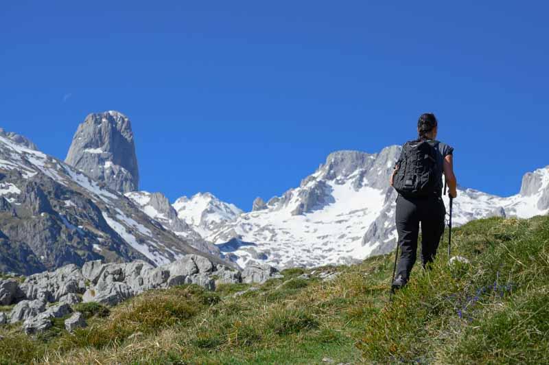 Vista del Macizo Central de Picos de Europa desde la ruta a Peña Main