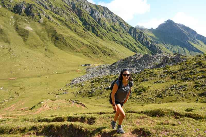 Camino del refugio del Meicín en Asturias