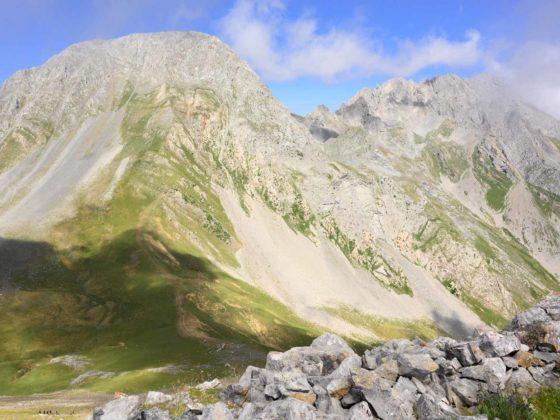 Panorámica a Peña Ubiña desde Peña Cerreos en Asturias