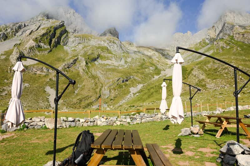 Panoramica de las Ubiñas desde el refugio del Meicín