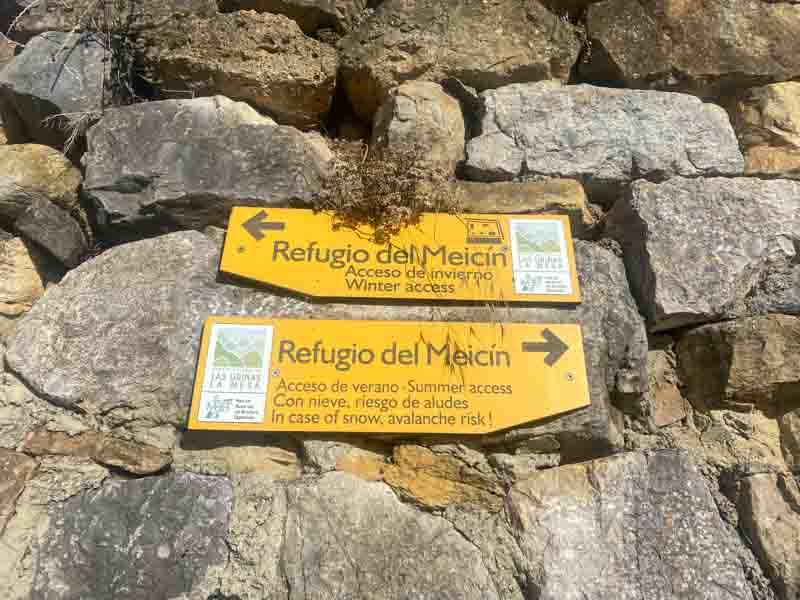 Ruta al Refugio del Meicin