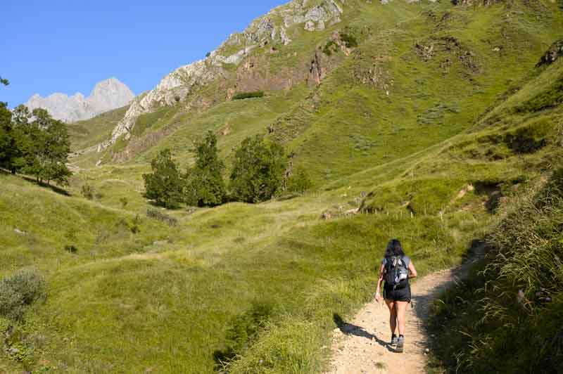 Inicio del sendero en la ruta a refugio del Meicín